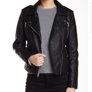 New Rachel by Rachel Roy Faux Leather Moto Jacket